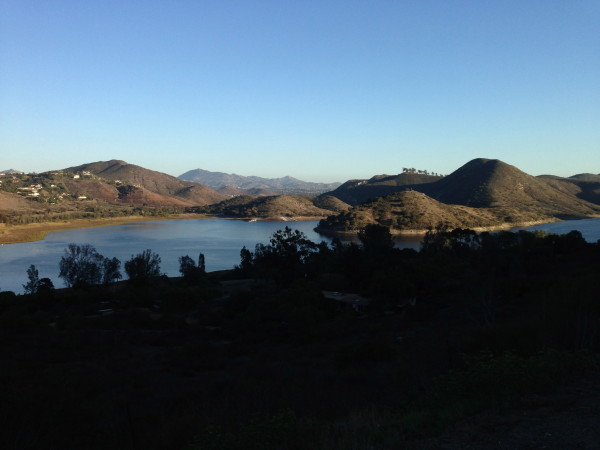 Lake Hodges from Del Dios Hwy.