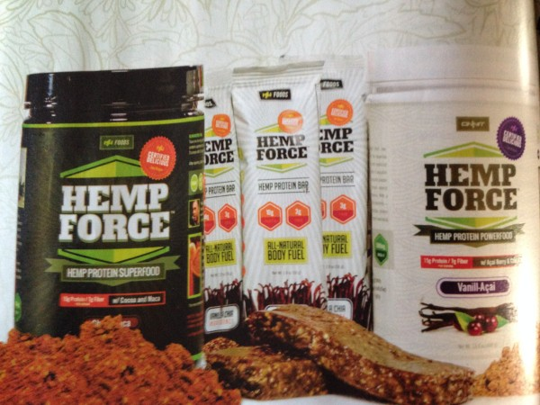 This was in the Southwest Airlines flight magazine, Hemp protein powder.  There is an angle for everything.