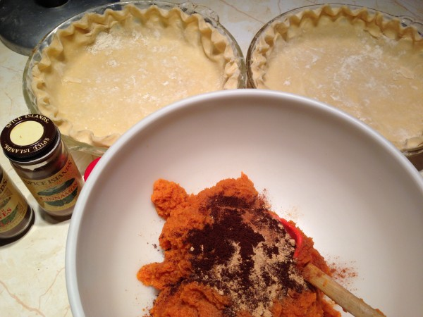 It's easier to make two pies at once.  It's a 3 meal a day food.