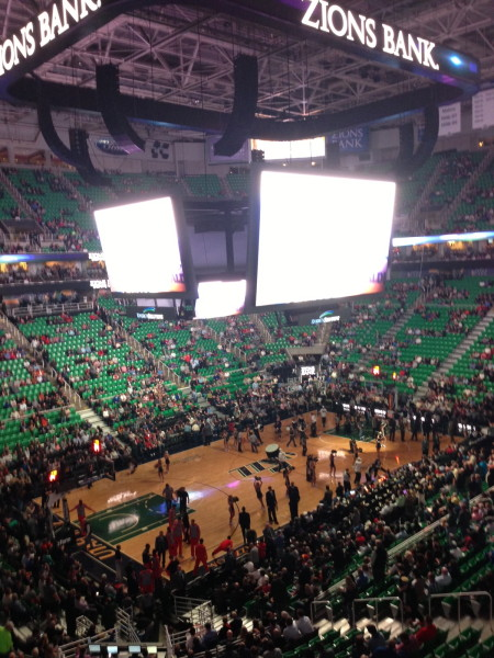 Last night they went to a Utah Jazz game.  Watched from a skybox of course.