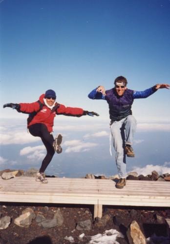 Ned and me doing a Karate Kid imitation.