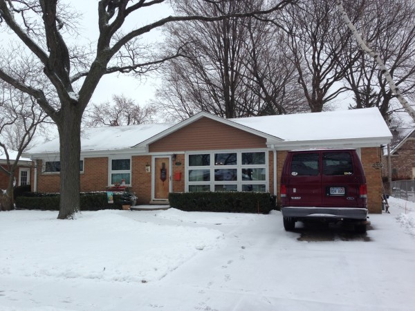 Trudi's mom's house.  It is probably only 1000 sq. ft. , with the single car garage, and they raised 4 kids there.