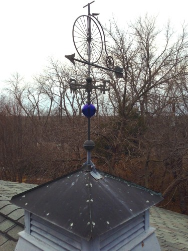 My cupola.  It is gonna take 20-40 years from the copper to turn green.