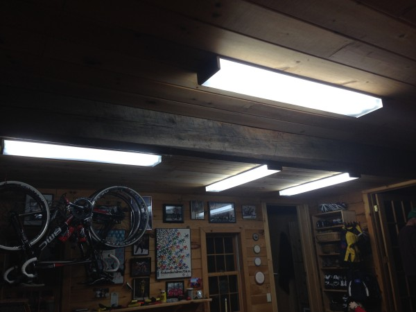 New lights in the waxing room.