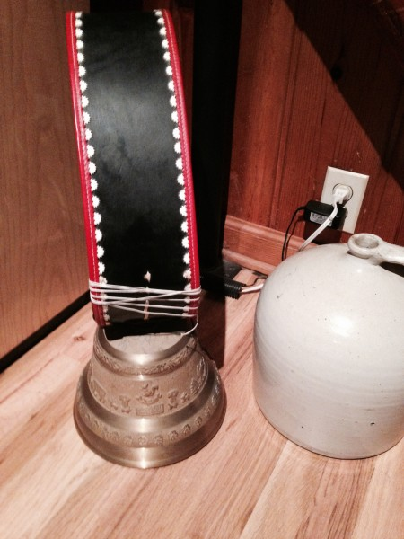 Andy's Tour de Suisse cowbell that he was ringing at Cross Nationals earlier this month.
