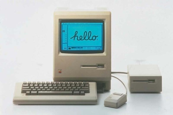 The original Macintosh from 1984.