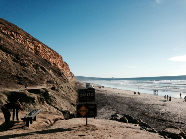 My normal photo of the beach ride at the base of Torrey Pines.