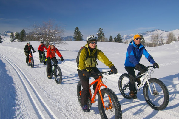 These bikes are selling like hotcakes now.  I heard Specialized can't keep them in stock.   If I was skiing on fresh corduroy and these guys were riding on it, I'd be mildly pissed.  I don't know what the etiquette is, but I'm pretty sure they don't belong on the same trails this time of the year.