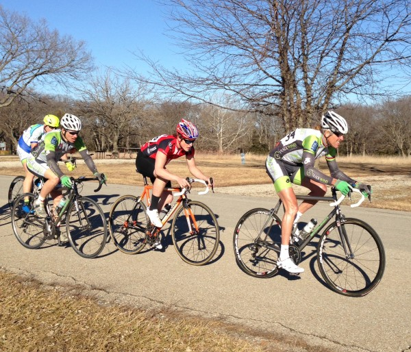 Early in the race with Peter Boyd and Bill Stolte.