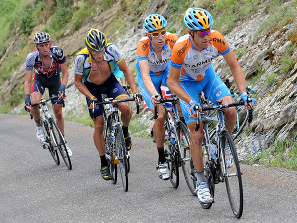 Here is Bradley and Lance, plus David Millar, having a tough time climbing in the Tour.