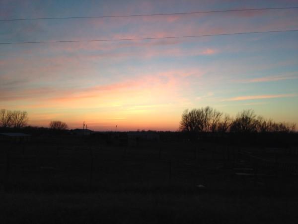 Really nice sunset.