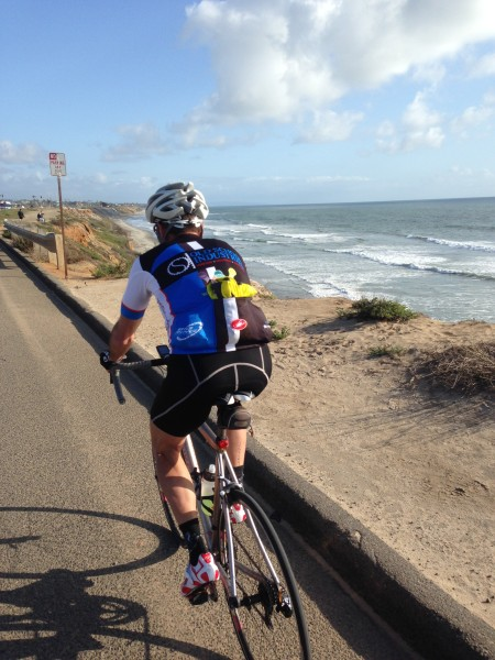 Riding back along the coast by Carlsbad.