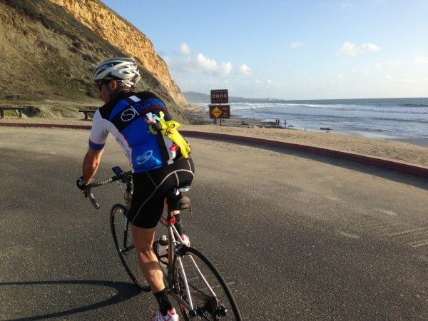 I was a little worried that Vincent was going to throttle it up the inside climb of Torrey Pines, but he didn't.