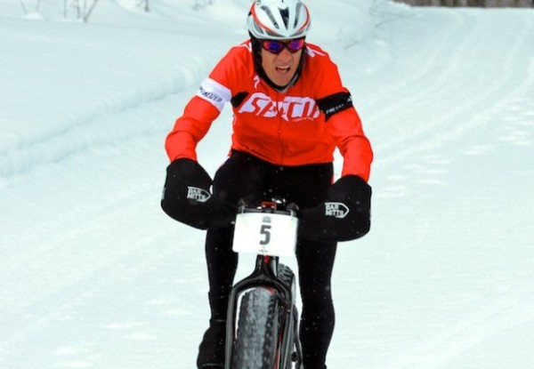 Ned on his way to winning the Fat Bike Nationals Championships Saturday.
