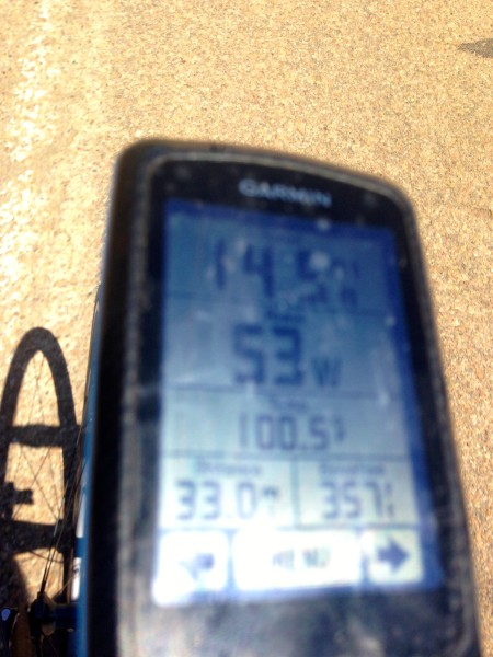 Pretty hot on my Garmin, but it was in the direct sunlight.