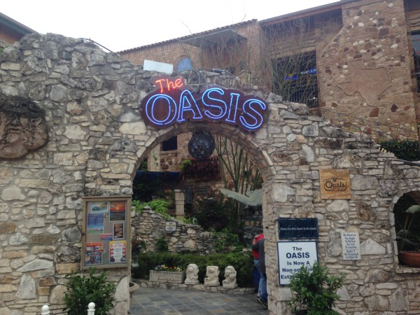 We went to the Oasis, a place overlooking Lake Travis last night for dinner.