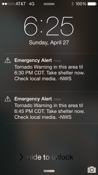 Alerts were going off on our phones continually on the way home.