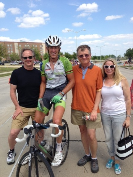 These are a couple friends that has relocated to the Dallas area.  Rod Lake on the left and Mark Winkleman and his wife on the right.  It was nice catching up.  I stayed with Rod and went by Mark's house to check out his bike, and car, collect.  It deserves its own post.
