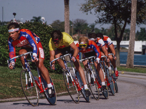 This photo is from the Tour of Americans.  It's a team time trial, obviously.  I was winning the race at this point.  I ended up 2nd overall to Davis Phinney.