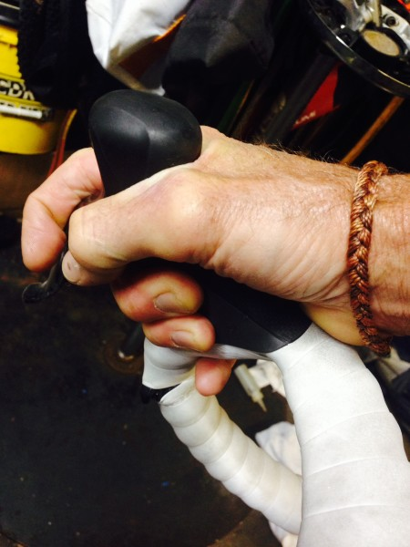 This is how I normally hold my brake levers.
