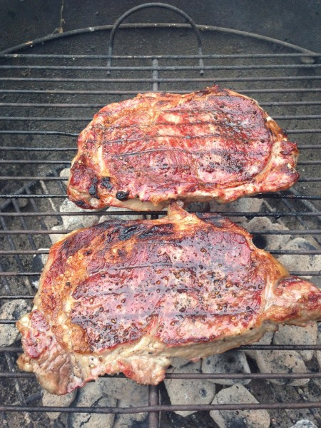 Grilled steak last night for this morning.