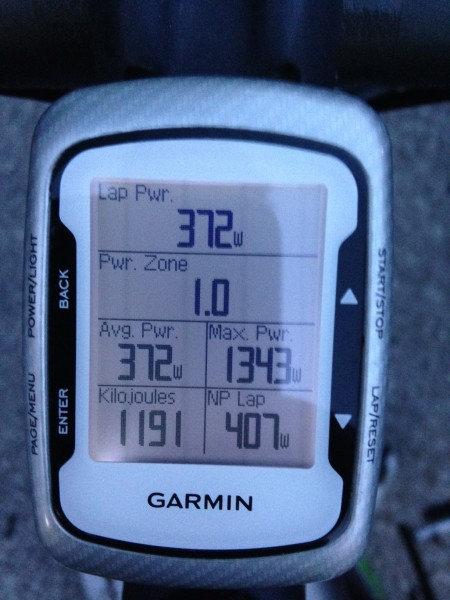 Brian's Garmin from a 70 minute criterium last night.  He must of been in the wind a lot.