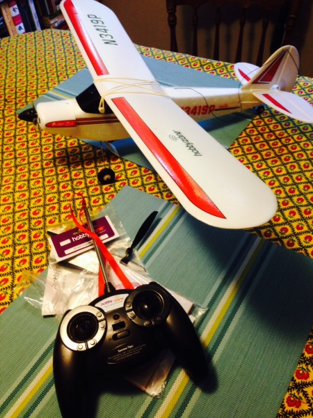 Just a styrofoam plane, but it was super fun flying.