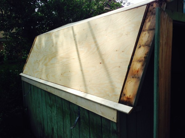 New sheathing and some other wood.