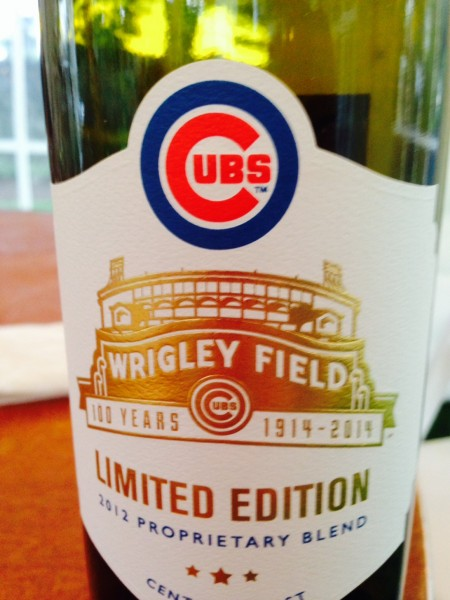 We drank some of this last night.  I haven't had much of a stomach for wine the last month.  I didn't know baseball teams had their own wine lables.