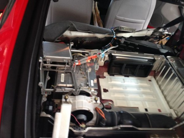 Honda hybrid battery area.