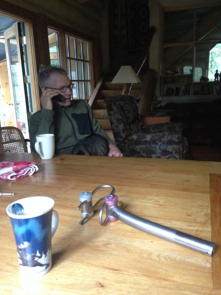 Having some morning coffee with Kent.  The phone rings pretty constant in the morning.