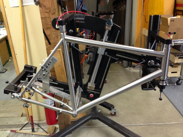 A work of art.  This is going to be a belt drive bike I believe.