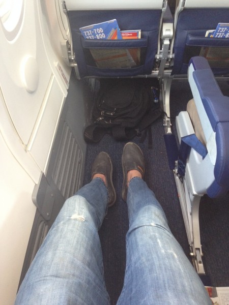 Plenty of legroom on the flight.