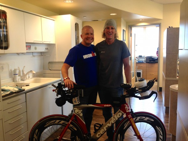 Jim McCreight and I after I have teeth again.  He just happened to have his bike at the office.