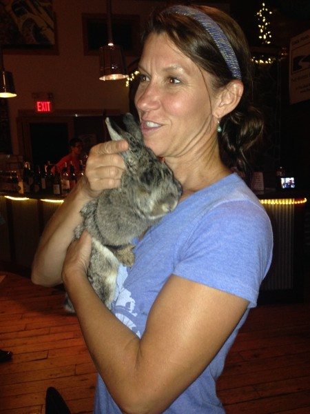 Beth and her rabbit Lucy.