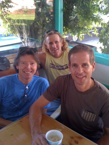 jimmy Mac, me and Andy Hampsten.  I've used this photo a few times, but this is one of my favorites.