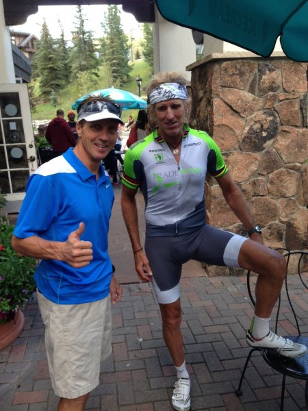 I ran into my friend, Mike Kloser, yesterday in Vail.  Mike was my in to have surgery at the Steadman Clinic last February in Vail.  He is a great guy and phenomenal athlete.