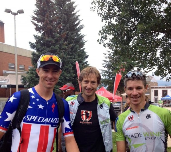 Todd, Brian and Bill after the Leaville 100 yesterday.