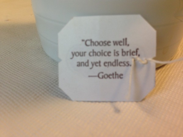My tea bag saying today.