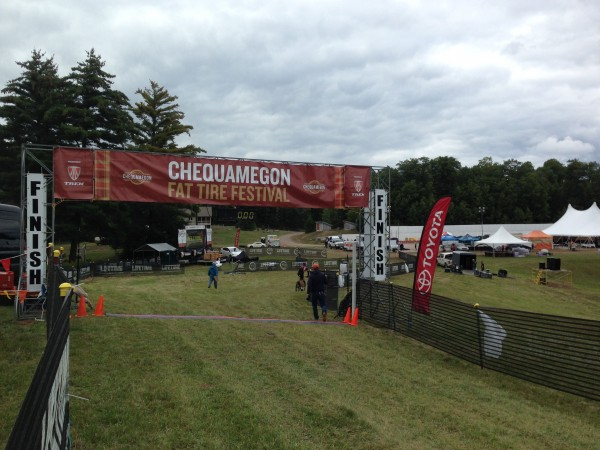 Everything is ready at the finish for 3500 MTB racers.