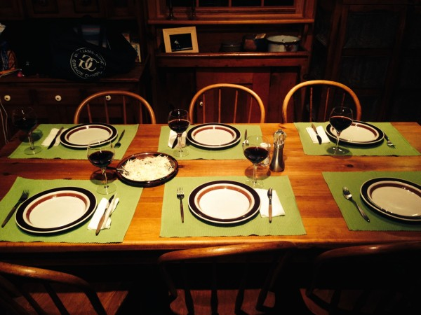 There is something to be said about a nicely set dinner table.