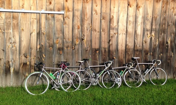 5 Kent Eriksen road bikes.  You don't see that very often.