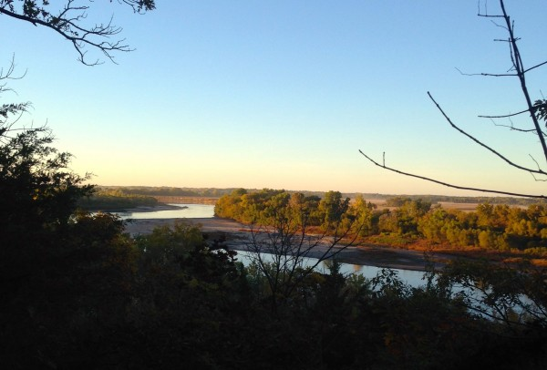 Fall picture of the Kansas River from the River Road.