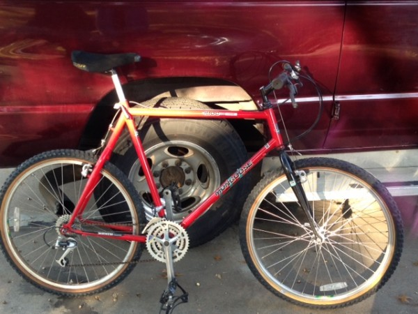 The bike of a street guy.