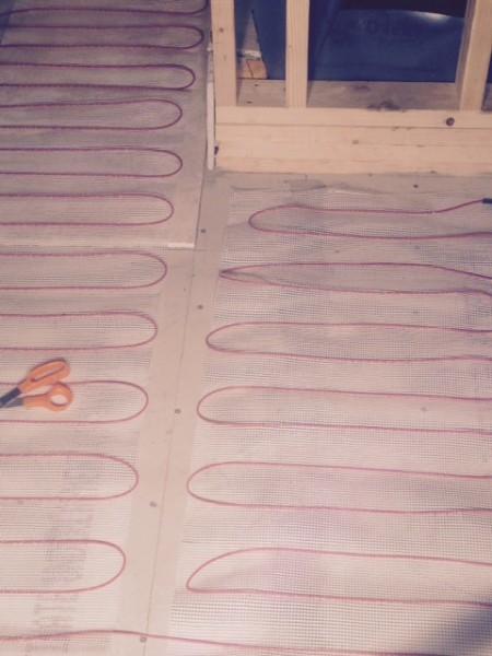 In floor heating mat.