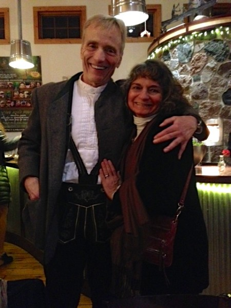 This is Dennis, lederhosen and all, and Sara Balbin, Gary Crandall's better half.