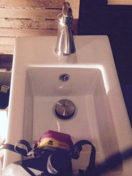 I'm putting in a baby sink.  The whole space is only 6 foot by 6 foot.