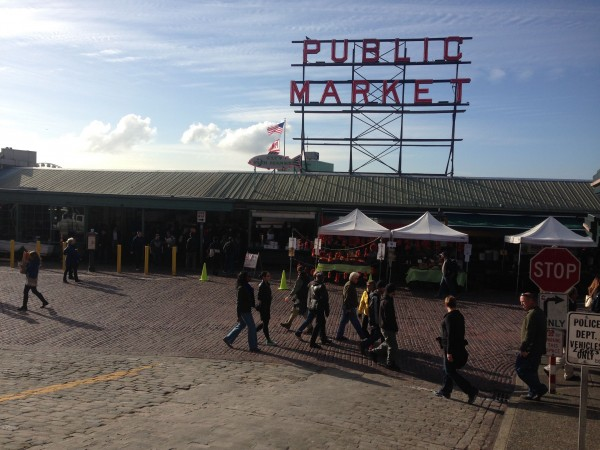 Pike Market, the most famous place in Seattle.