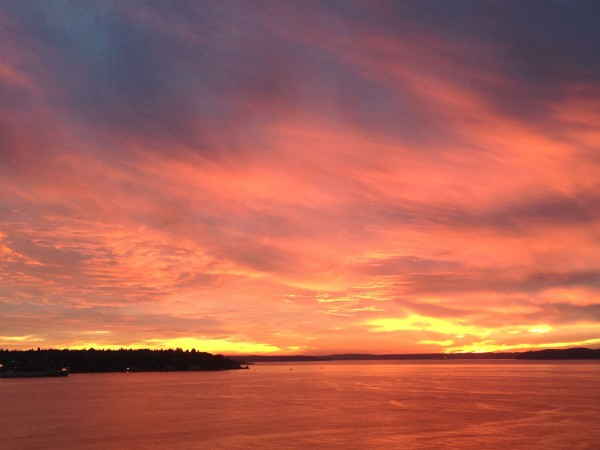 Sunset over Puget sound last night.  Pretty great.