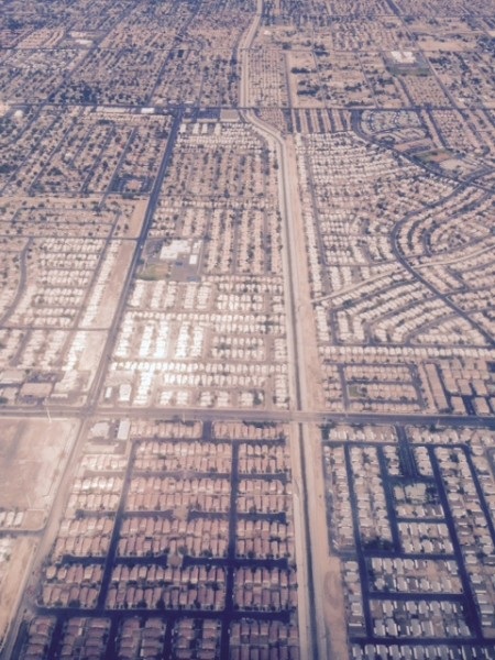 Man, Las Vegas from the air is amazing.